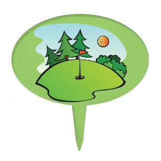 Lugar feliz Golfing del agujero del campo de golf Figura De Tarta