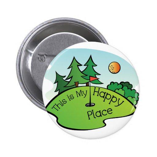 Lugar feliz Golfing del agujero del campo de golf Pins