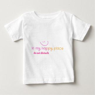 Lugar feliz playera de bebé