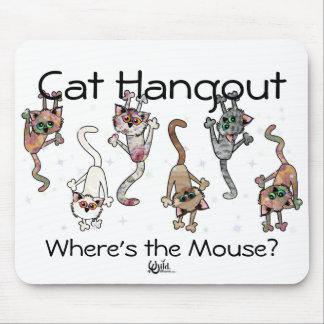 Lugar frecuentada del gato tapetes de ratones