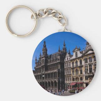 Lugar magnífico, Bruselas, Bélgica Llavero Redondo Tipo Pin