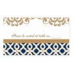 Lugar marroquí de la tabla del boda de los azules  tarjetas personales