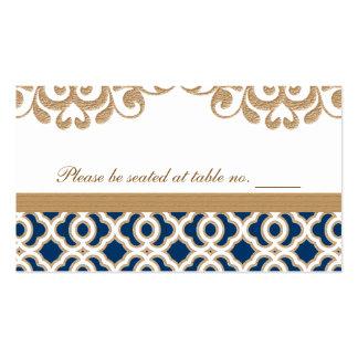 Lugar marroquí de la tabla del boda de los azules  tarjetas de visita