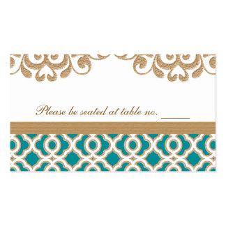 Lugar marroquí de la tabla del boda del trullo y plantilla de tarjeta de visita