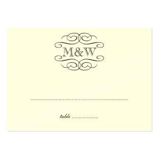 Lugar negro del asiento del acompañamiento del bod tarjetas personales