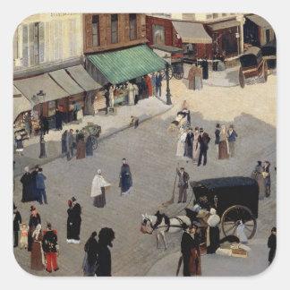 Lugar Pigalle, París, 1880s del La Calcomanías Cuadradass