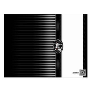 Lugar plegable EN BLANCO blanco negro esquelético Tarjetas Postales