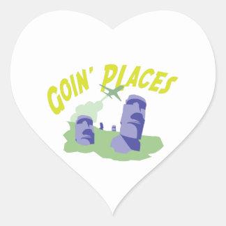 Lugares de Goin Pegatina En Forma De Corazón
