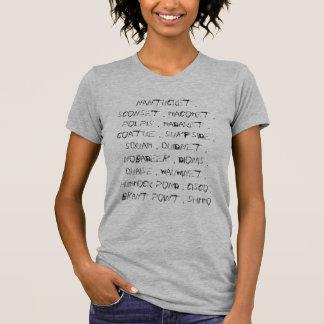 Lugares de Nantucket Camiseta