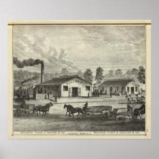Lugares del negocio de Rogers y Co y Sullivan y Co Impresiones