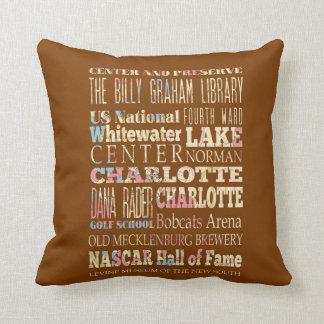 Lugares famosos de Charlotte, Carolina del Norte. Cojín