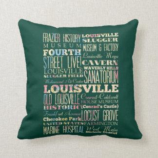 Lugares famosos de Louisville, Kentucky Cojin