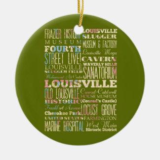 Lugares famosos de Louisville, Kentucky Adorno Para Reyes