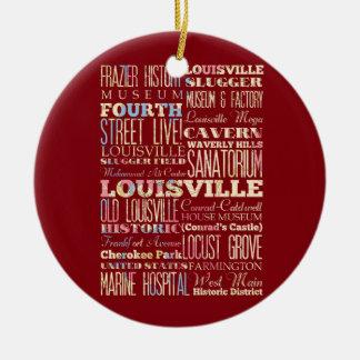 Lugares famosos de Louisville, Kentucky Adorno Redondo De Cerámica