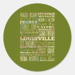 Lugares famosos de Louisville, Kentucky Pegatinas Redondas