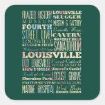 Lugares famosos de Louisville, Kentucky Calcomanías Cuadradass