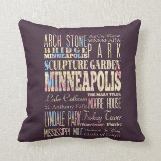 Lugares famosos de Minneapolis, Minnesota Almohadas