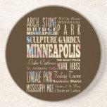 Lugares famosos de Minneapolis, Minnesota Posavasos De Arenisca