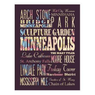 Lugares famosos de Minneapolis, Minnesota Postal