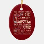 Lugares famosos de Nashville, Tennessee Ornamento Para Reyes Magos