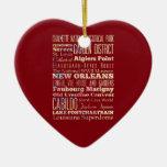 Lugares famosos de New Orleans, Luisiana Ornaments Para Arbol De Navidad