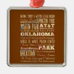 Lugares famosos de Oklahoma, Estados Unidos. Ornamentos De Navidad