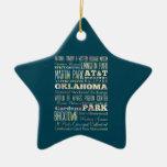 Lugares famosos de Oklahoma, Estados Unidos. Adorno De Navidad