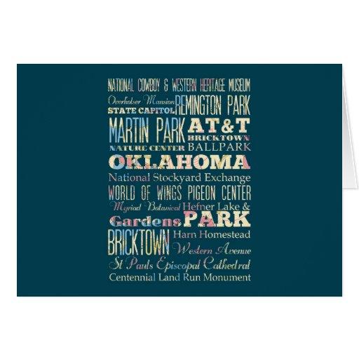 Lugares famosos de Oklahoma, Estados Unidos. Tarjeta De Felicitación