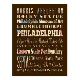 Lugares famosos de Philadelphia, Pennsylvania Tarjetas Postales