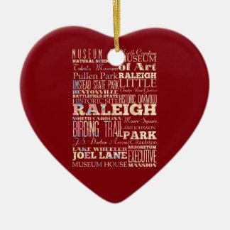 Lugares famosos de Raleigh, Carolina del Norte. Adorno