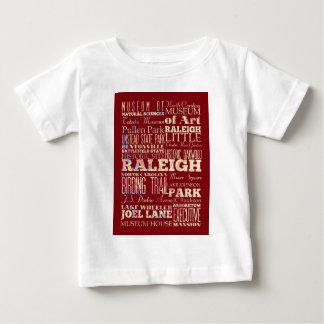 Lugares famosos de Raleigh, Carolina del Norte. Remeras