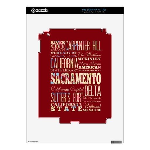 Lugares famosos de Sacramento, California iPad 2 Skin