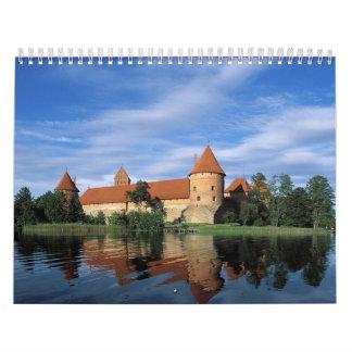 Lugares impresionantes del calendario de mundo