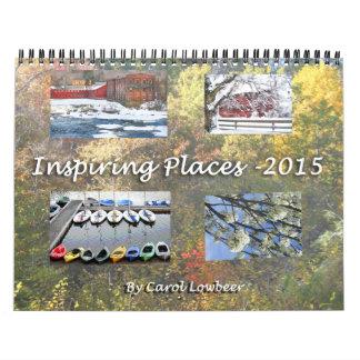 Lugares inspiradores 2015 calendario de pared
