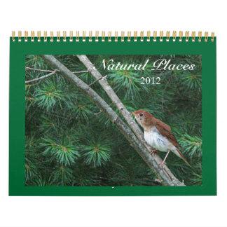 Lugares naturales calendario