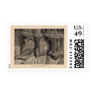 Lugares o los paneles, piedra caliza roja de la sello