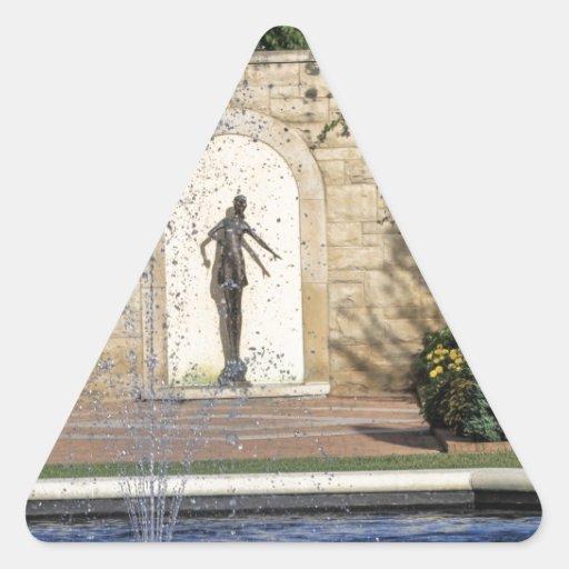 Lugares Pegatina Triangular