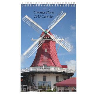 Lugares preferidos del calendario 2013