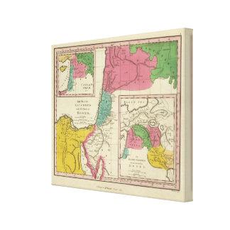 Lugares registrados en los cinco libros de Moses Lienzo Envuelto Para Galerías