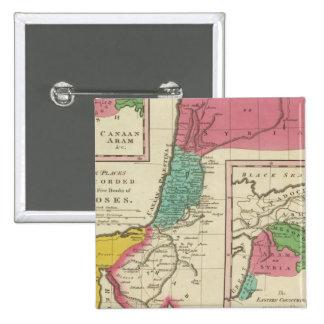 Lugares registrados en los cinco libros de Moses Pin Cuadrado