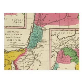 Lugares registrados en los cinco libros de Moses Postal