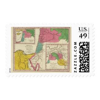 Lugares registrados en los cinco libros de Moses Sellos Postales
