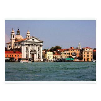 """Lugares románticos en Venecia Invitación 5"""" X 7"""""""