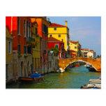 Lugares románticos en Venecia Postal