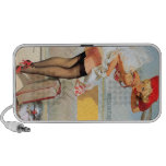 Luggage accident pinup girl mini speakers