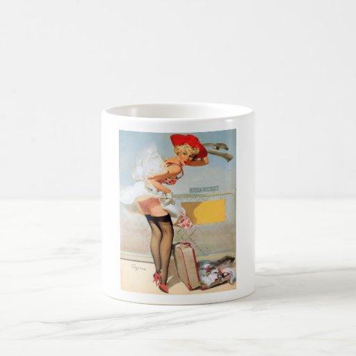 Luggage accident pinup girl mugs