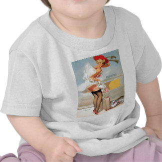 Luggage accident pinup girl t shirt