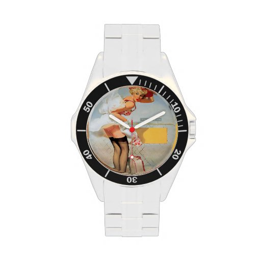 Luggage accident pinup girl wristwatches