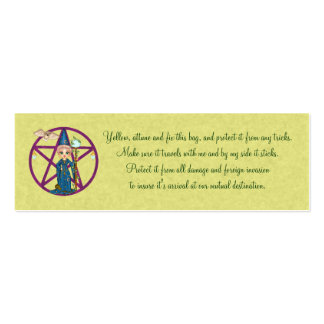 Luggage Arrival Spell Card Mini Business Card