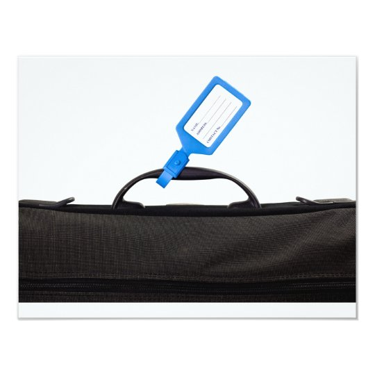 Luggage bag with identification tag card